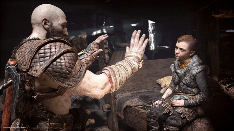 Atreus y Kratos- IGN
